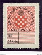 CROATIA 1945 Field Post Parcel Stamp MNH / **.  Michel 1 - Croatia