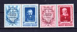1952   Emile Verhaeren Et Henri Conscience Surchargé UNESCO, PR 119 / 120**, Cote 135 €, - Belgique