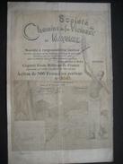 BOMA 1898 - SOCIETE DES CHEMINS DE FER VICINAUX DU MAYUMBE - Action De 500 Francs - Belle Décoration - Afrique