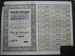 BRUXELLES 1939 - WESTENDE Société Anonyme Foncière Et Industrielle - Actions & Titres