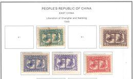 Cina Pop.1949 East China Liberation Shangay  Vari N.5 Valori Nuovi Scott.5L61+63+64+65+66 See Scans - Western-China 1949-50