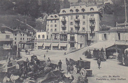 St. Moritz - Postplatz - Hotel Steffani - Kutschen      (P-70-50216) - GR Grisons
