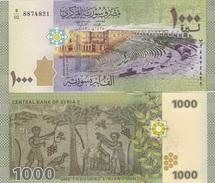 Syria - 1000 Pounds 2013 2015 UNC Pick 116 Lemberg-Zp - Siria