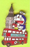 Pin's Mascotte TV Asahi Bus London Tokyo Rio  - 8T17 - Mass Media