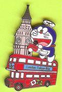 Pin's Mascotte TV Asahi Bus London Tokyo Rio  - 8T19 - Mass Media