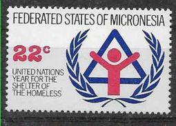 1987 MICRONESIE 44** Sans-abri - Micronésie