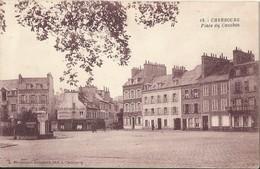 CHERBOURG  -  50  -  Place Du Cauchin - ( Très Belle Carte ) Hôtel COURVAL - Et  Café Restaurant De La Gare - Cherbourg