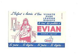 Buvard Evian Source Cachat - Buvards, Protège-cahiers Illustrés