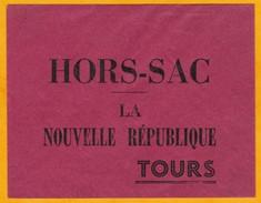 Années 1950 - Enveloppe HORS SAC - La Nouvelle République - Tours - Neuve Non Utilisée - Zonder Classificatie