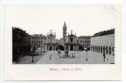 - ITALIE - CPA Vierge TORINO - Piazza S. Carlo - Ediz. Z. P. T. - - Plaatsen & Squares