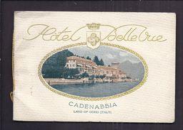 CARNET PUBLICITE ITALIE - HOTEL BELLEVUE CADENABBIA LAC DE COMO - GOLF BATEAU ART NOUVEAU - Dépliants Touristiques