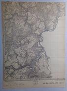 CARTE D ETAT MAJOR 56/7 De 1925 BURG-REULAND LASCHEID BRACHT ALSTER MASPELT LOMMERSWEILER NEIDINGEN ALFERSTEG AUEL S742 - Burg-Reuland