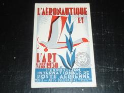 L'AERONAUTIQUE ET L'ART NOVEMBRE 1930 - EXPOSITION INTERNATIONALE DE POSTE AERIENNE MUSEE DES ARTS DECORA - 75 PARIS (V) - Exposiciones