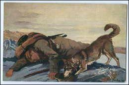 N8616/ Sanitätshund Im Felde Schäferhund Rotes Kreuz Wohlfahrts AK WK1 - Weltkrieg 1914-18