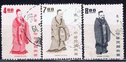 ROC+ Taiwan 1972 1973 Mi 916 951-52 Yao, ChouKung, Konfuzius - Gebraucht