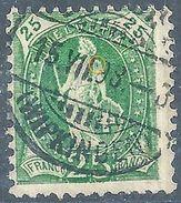 Stehende Helvetia 67D, 25 Rp.grün  WIPKINGEN           1898 - Gebraucht