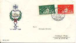 Turkey FDC 4-4-1959 NATO Complete With Cachet Sent To Germany - 1921-... République