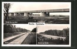 CPA Reichs-Autobahn Frankfurt-Darmstadt, Pont über Den Main - Postcards