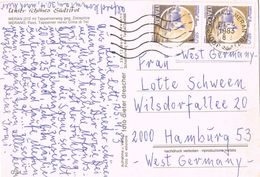 24879. Postal MERANO (Meran) Bolzano, Italia 1983. Vista Y Cima Del TEL - 1981-90: Storia Postale