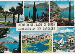 RICORDO DEL LAGO DI GARDA - VARIE VEDUTE - VIAGGIATA 1972 - Saluti Da.../ Gruss Aus...