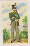 Chromo Image Chocolaterie-confiserie Riri Demaret Histoire Militaire De Belgique  Chasseur 1815 - Chocolat