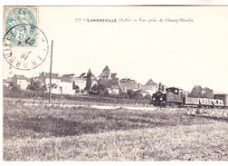 10 Landreville - Vue Prise De Champ Moulin. Train Passant Devant Enfants. édit Fauvel, Tb état. - Autres Communes
