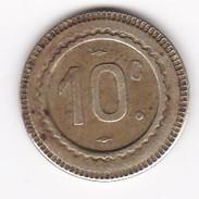 JETON 10  à Consommer  CENTAURE Téte A Droite, Jeu De Comptoir , Machine à Sous ,necessité  2 ScansC - Monétaires / De Nécessité