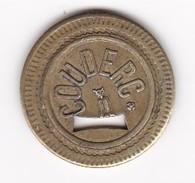 JETON 10 Centimes  à Consommer COUDERC , Jeu De Comptoir , Machine à Sous ,necessité  2 Scans - Monétaires / De Nécessité