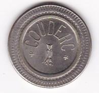 JETON 10 Centimes  à Consommer COUDERC Hibou Ou Chouette , Jeu De Comptoir , Machine à Sous ,necessité  2 Scans - Monedas / De Necesidad