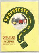 Publicité ,PASTEUR AUTO ECOLE ,G. HESLON ,49 ,ANGERS ,phototests Code De La Route , 3 Scans ,frais Fr : 1.95€ - Advertising