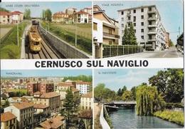LOMBARDIA - CERNUSCO SUL NAVIGLIO (MI) - VEDUTE - TRAM - VIAGGIATA 1972 - Altre Città