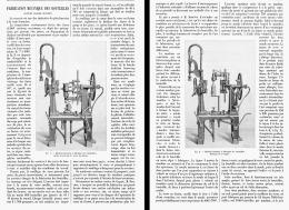 FABRICATION MECANIQUE Des BOUTEILLES Systéme CLAUDE BOUCHER  1902 - Wine