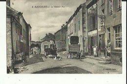 Raucourt  08    La Grande-Rue  Bien Animée_Attelage Et Café - Francia