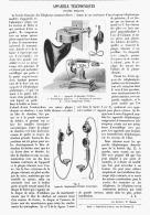 APPAREILS TELEPHONIQUES Systéme BERLINER  1902 - Téléphonie