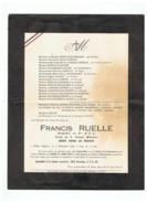 SOUVENIR RUELLE FRANCIS BRIGADIER AU 8em R S A MORT POUR LE FRANCE EN ALGERIE à M'SILA Le 09 12 1956 - Documents