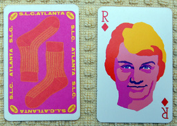Claude François - Carte SLC (Salut Les Copains) / Chaussettes Stemm - 1960 - Roi De Carreau - Other Products