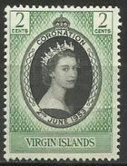 Virgin Islands  - 1953 Coronation MLH *   Sc 114 - British Virgin Islands