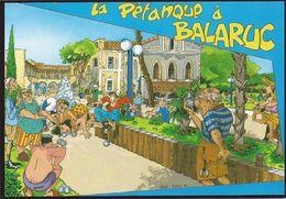 BALARUC  LA PETANQUE     DESSIN C.PELET - Francia