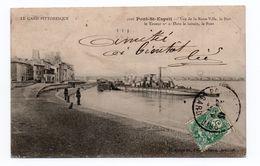 PONT SAINT ESPRIT (30) - VUE DE LA PETITE BASSE VILLE, LE PORT LE TOUEUR. DANS LE LOITAIN, LE PONT - Pont-Saint-Esprit
