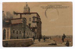 PONT SAINT ESPRIT (30) - QUAI BONNEFOY LIBOURG - LES ABATTOIRS - L'HORLOGE - L'ENTREE DU PORT - Pont-Saint-Esprit