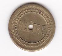 JETON 10 Centimes  à Consommer MAITRE   Jeu De Comptoir , Machine à Sous ,necessité  2 Scans - Monétaires / De Nécessité
