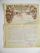 1927  FOLIGNO - SOCIETA' POLIGRAFICA SALVATI REALE STABILIMENTO (PERUGIA)  AL COMUNE DI CERVA    Fattura Listino Prezzi - Italia