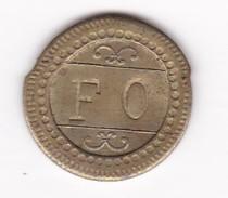 JETON 10 Centimes  à Consommer F O   Jeu De Comptoir , Machine à Sous ,necessité  2 Scans - Monétaires / De Nécessité