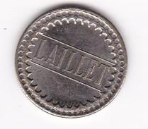 JETON 20 Centimes  à Consommer LAILLET   Jeu De Comptoir , Machine à Sous ,necessité  2 Scans - Monétaires / De Nécessité