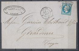 Cover France Napoleon Used Lot#1 - 1853-1860 Napoleon III