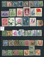 Chine - Lot De 46 Valeurs Oblitérés , états Divers  Voir  Scan Réf  429 - 1912-1949 Republic
