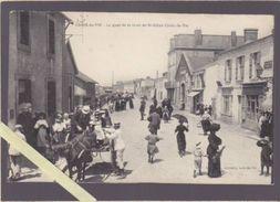 Vendée - Croix De Vie - Le Quai De La Gare De Saint Gilles Croix De Vie - Beau Cliché Très Animé , Attelage - Saint Gilles Croix De Vie