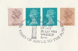 1985 GB Stamps COVER WINDSOR PILLARBOX EVENT Pmk  Post Box - Post