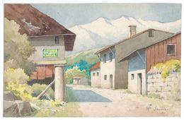 """Petite Aquarelle Sur Canson/Non Encadrée/ """"Haute Savoie""""/France/Vers 1950 - 1960                    GRAV228 - Watercolours"""