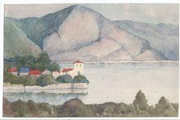 Petite Aquarelle Sur Canson/Non Encadrée/Bord De Lac En Montagne/ Suisse ? Italie?/Vers 1950 - 1960   GRAV230 - Watercolours